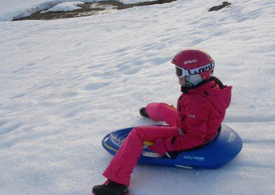 Trineo en la nieve