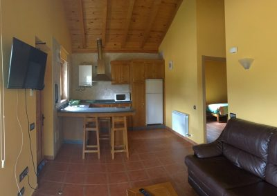 Detalle del salón y cocina
